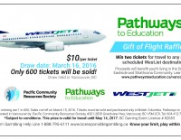 Pathways Westjet raffle 2016