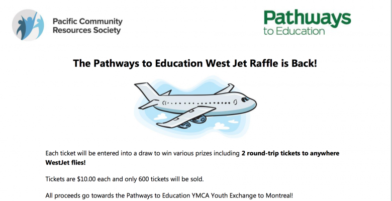The Pathways to Education West Jet Raffle