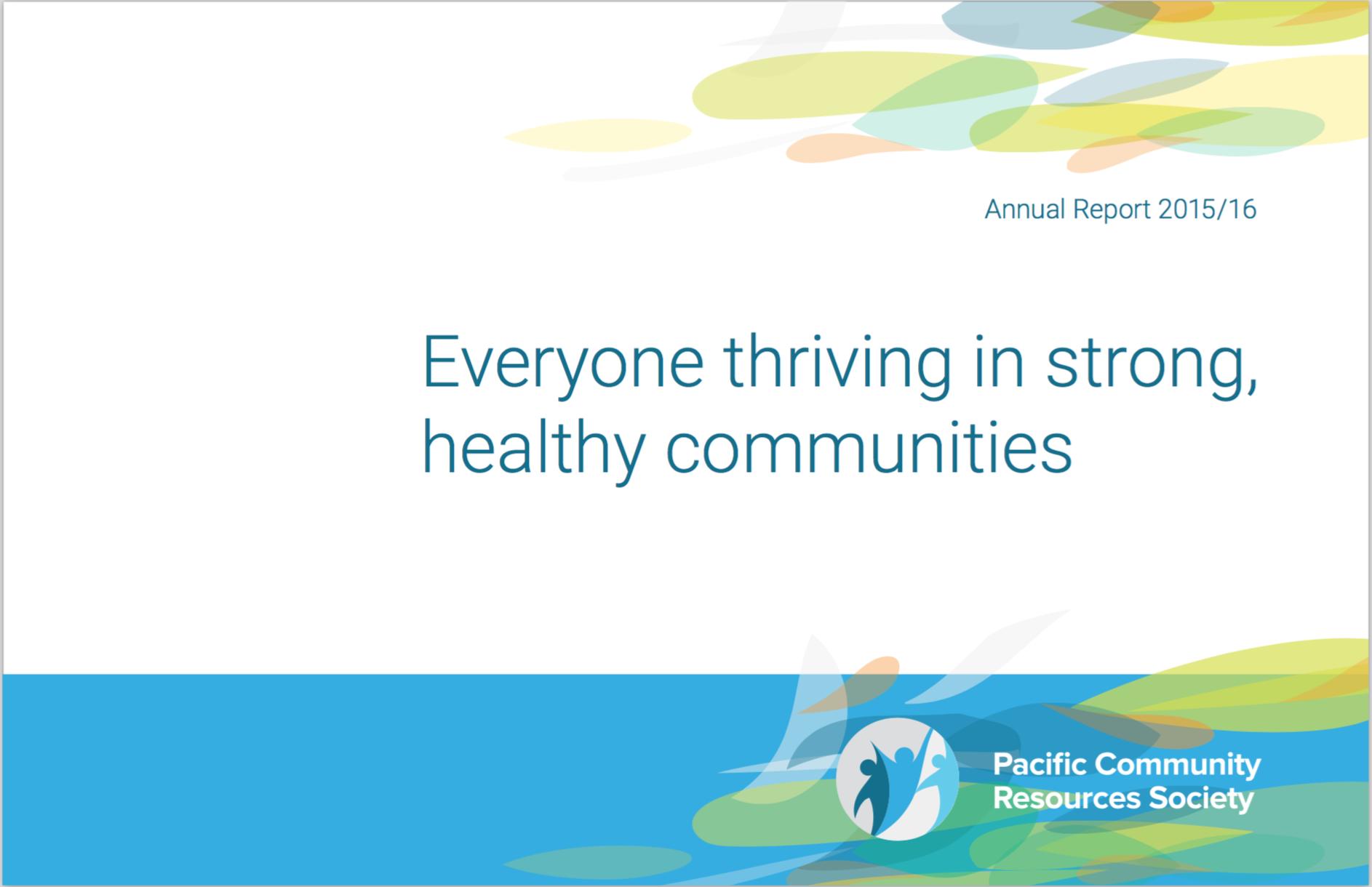 PCRS Annual Report 2015-16