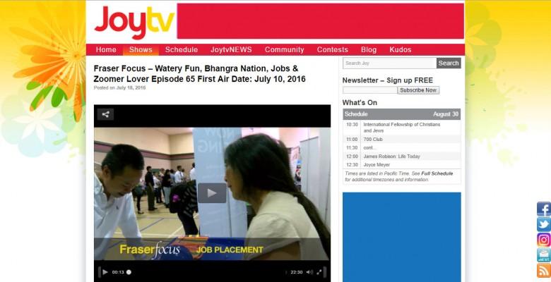JoyTV Fraser Focus